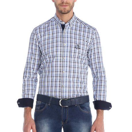 Mulligan Button-Up Shirt // Blue + Navy