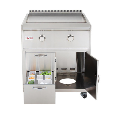 Grill Cart For Gas Griddle