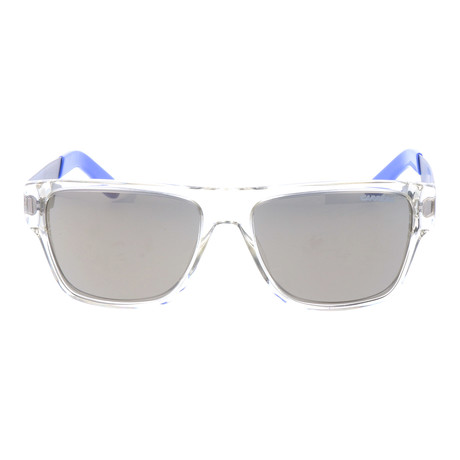 Carrera // 5014 Sunglasses // Clear + Gray + Blue