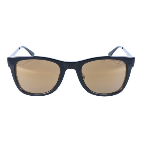 Removable Frame Square Wayfarer // Black + Brown + Silver