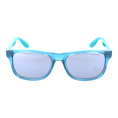 Clear Thick Rim Rectangular Wayfarer // Teal