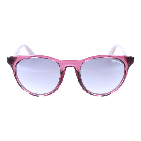 Clear Colorblocked Thick Rim Rounded Wayfarer // Wine + Mauve