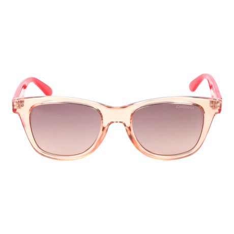 Clear Thick Rim Square Wayfarer // Peach