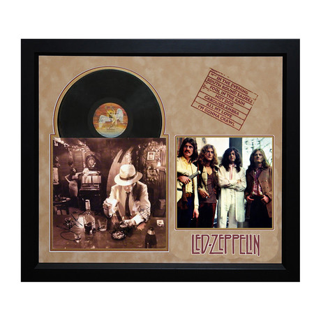 Led Zeppelin Signed Album // In Through the Out Door