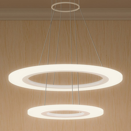 Tania Duo // High Two Tier Chandelier // White