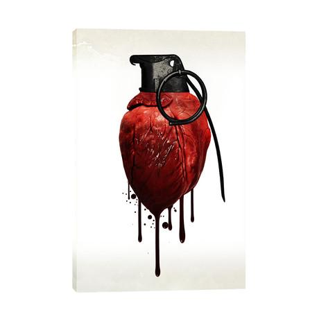 """Heart Grenade (12""""W x 18""""H x 0.75""""D)"""