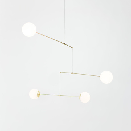 Mobile // Brass Lamp (3 Globes)