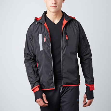 Travel Jacket // Red + Black (X-Large)