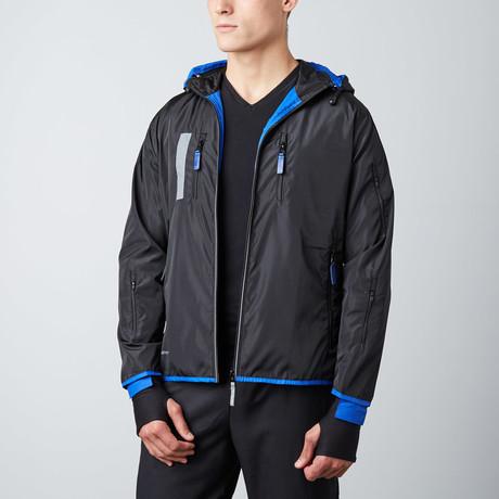 Travel Jacket // Blue + Black (Small)