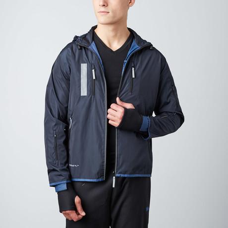 Travel Jacket // Aqua + Navy (Small)