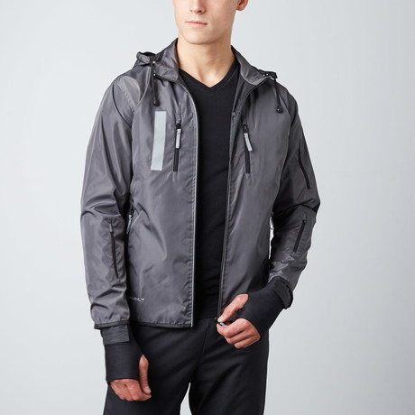Travel Jacket // Black + Charcoal (Small)