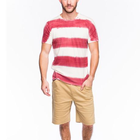 Newport Stripe T-Shirt // Red
