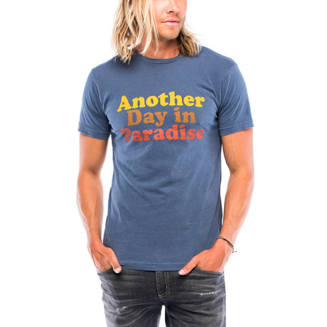 Another Day In Paradise T-Shirt // Faded Navy