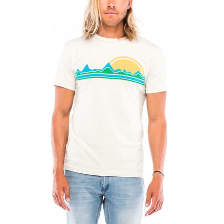 Mountain Sunset T-Shirt // White