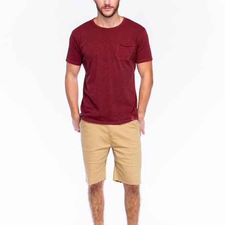 Slub Pocket T-Shirt // Dark Red