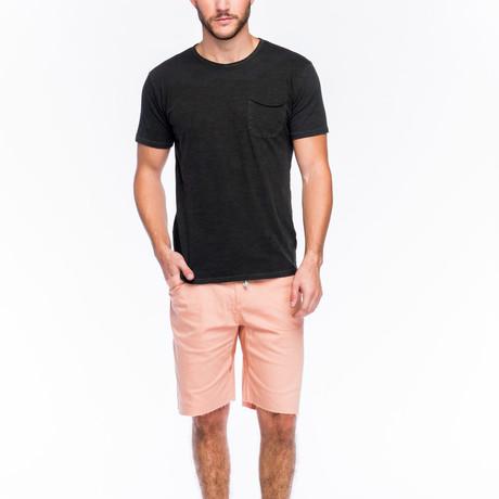 Slub Pocket T-Shirt // Faded Black