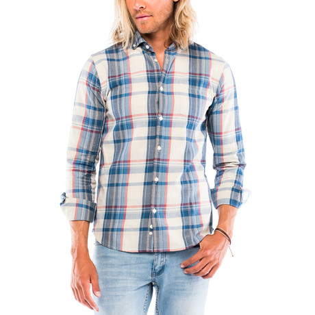 Bowery Long-Sleeve Button Down // Blue Plaid