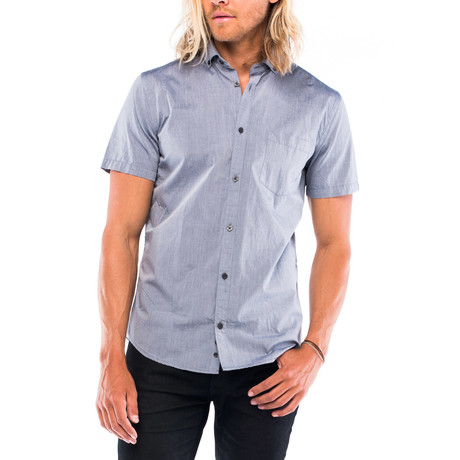 Montauk Short-Sleeve Button Down // Blue Chambray