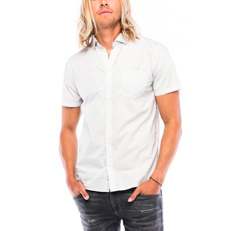 Montauk Short-Sleeve Button Down // White Checker