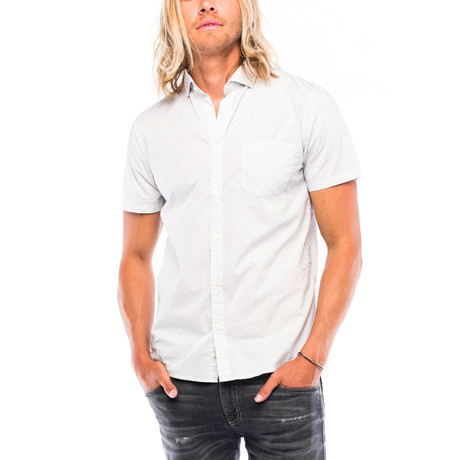 Montauk Short-Sleeve Button Down // White Checker (M)