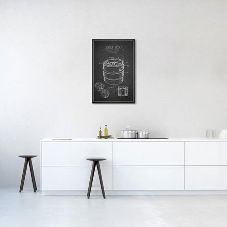 Keg Patent Blueprint // Charcoal