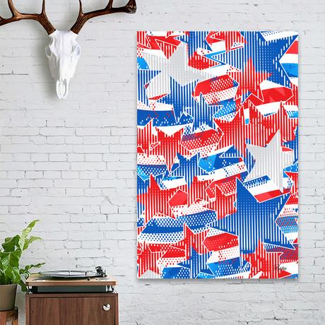 Artistic LXXXVI - Americana Pattern, NE // Tmarchev // Stretched Canvas