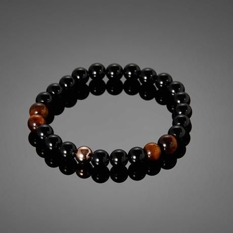 Tellumo // Black Agate & Tigereye Stone Bracelet