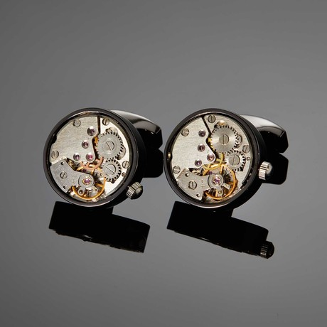 Saint Mark Movement Cufflink // Gunmetal