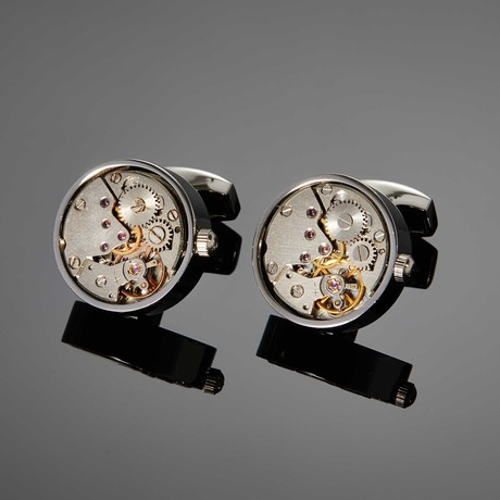 Saint Mark Movement Cufflink // White Steel