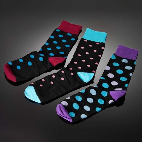 Dapperman // Punctum Hand-Linked Socks // 3-Pack Dots