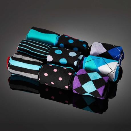 Dapperman // Ciriculus Hand-Linked Socks // 9-Pack