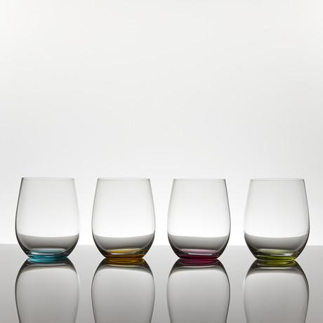 Happy O // Wine Tumbler // Set of 4