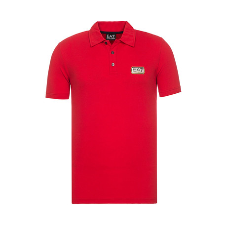 EA7 Rubberized Patch Polo // Red (XS)