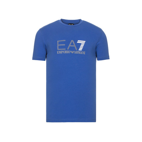 EA7 Linear Logo Graphic Tee // Blue
