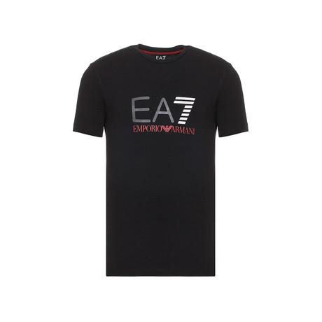 EA7 Color Logo Graphic Tee // Black