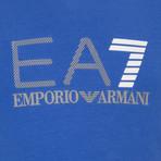 EA7 Linear Logo Graphic Tee // Blue (XS)