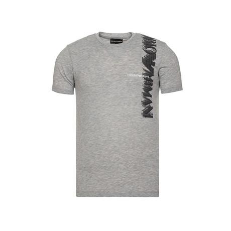 Emporio Armani Eagle Logo Shadow Graphic Tee // Grey (XS)