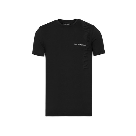 Emporio Armani Eagle Logo Shadow Graphic Tee // Black (XS)