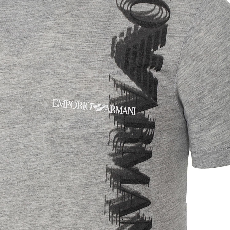 Emporio armani eagle logo shadow graphic tee grey xs - Emporio giorgio armani logo ...