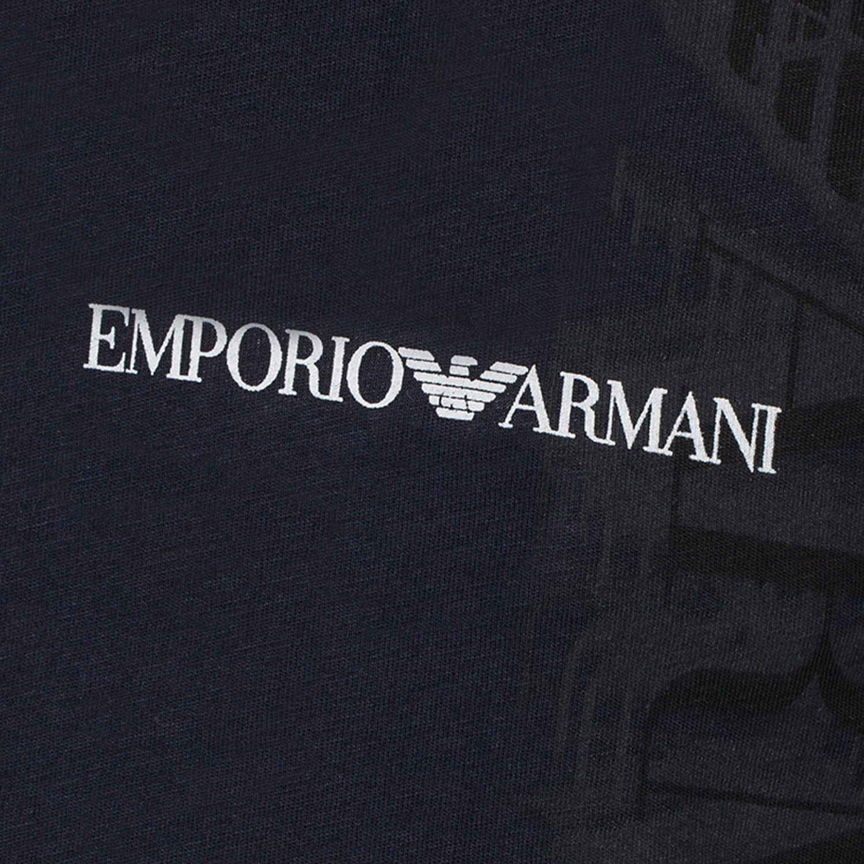 Emporio armani eagle logo shadow graphic tee navy xs - Emporio giorgio armani logo ...