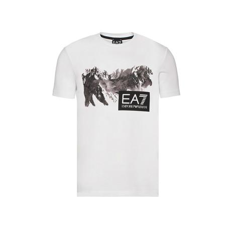EA7 Mountain Graphic Tee // White (XS)