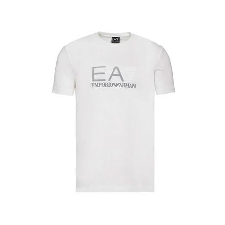 EA7 Linear Logo Graphic Tee // White