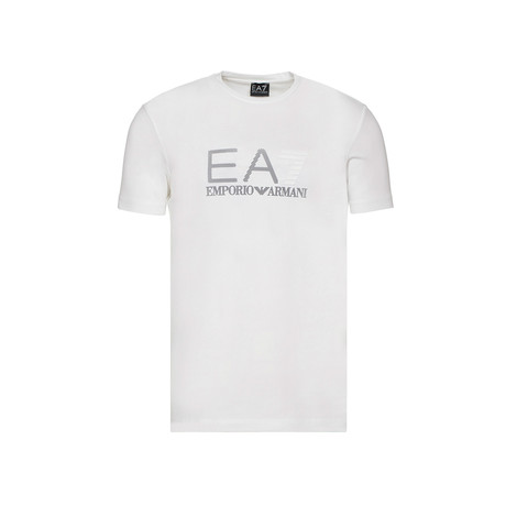 EA7 Linear Logo Graphic Tee // White (XS)