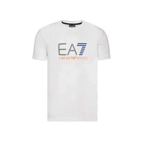 EA7 Color Logo Graphic Tee // White