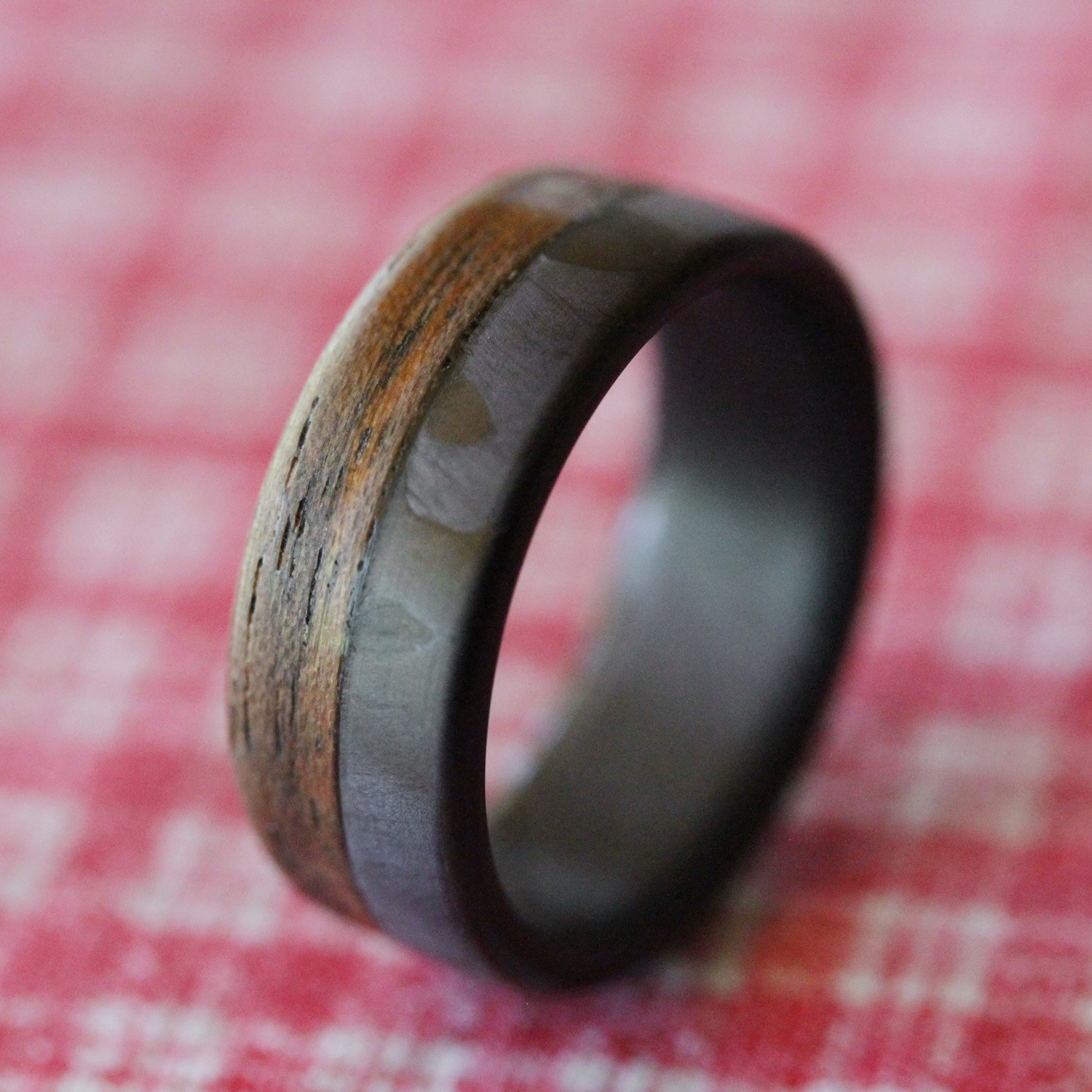 Fifty Fifty Walnut Wood Carbon Fiber Ring (Size 5) - Element Rings ...