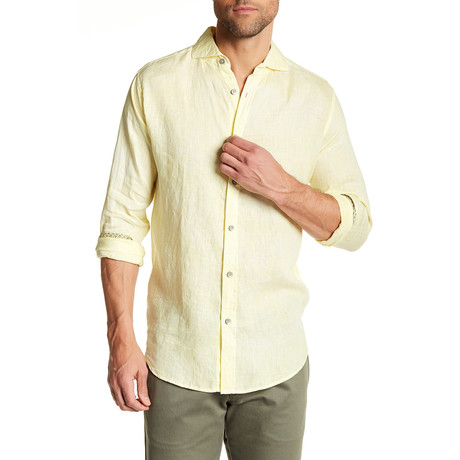 Long-Sleeve Modern Fit Shirt // Yellow
