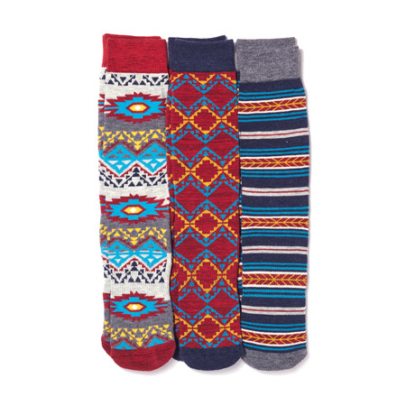 Comfort Sock // Aztec // Pack of 3