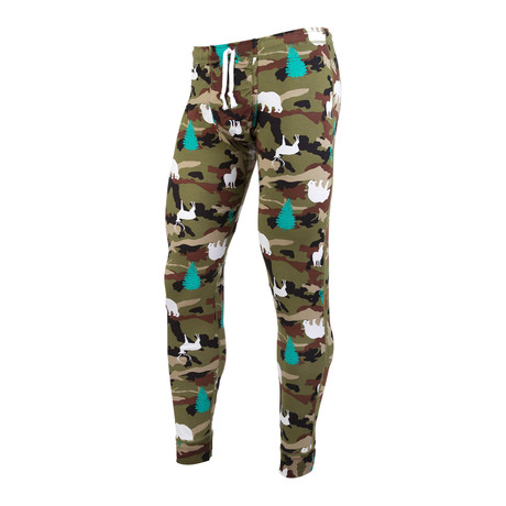 Wilderness Camo Premium Sleepwear // Green Multi + White + Grey