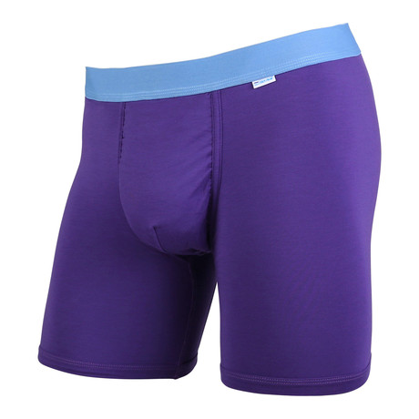 Weekday Boxer Brief // Plum + Turquoise