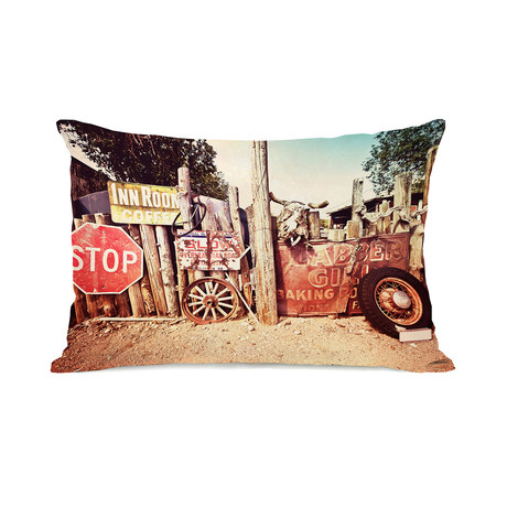 Old Americana Signs // Pillow